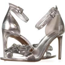 MICHAEL MICHAEL KORS Paris Sequin Bow Sandal Silver Mult Sizes - $59.99