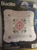 """Bucilla """"American Sampler"""" Accent Pillow Counted Cross Stitch Kit - Unop... - $16.27"""