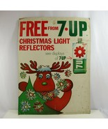 7Up Advertising Sign Christmas Light Reflectors 1970s Free Vintage Store... - $96.74