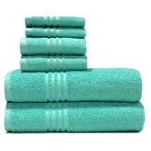 Mainstays True Colors 6-Piece Towel Set, Spearmint - $28.78