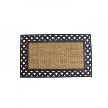 Basket Weave Border Welcome Mat - $28.97