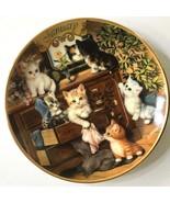 JANUARY Timeless Tails Purr-petual Calendar Plate Perpetual Cat Kitten 5... - $19.79