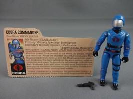 Vintage GI JOE Action Figure 1983 Cobra Commander 100% w Peach File Card... - $62.14