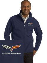 Corvette Navy Blue Embroidered Port Authority Core Soft Shell Unisex Jac... - $39.99