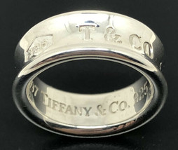 Tiffany & Co. 1837 Sterling Silver Ring Circa 1997 Size 5 - $182.33
