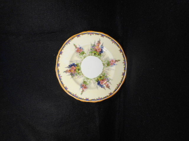 "Vintage Alfred Meakin Hollyhock China 6"" Butter Plate"