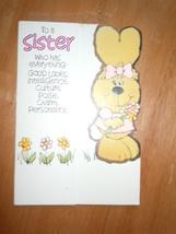 Vintage Happy Birthday Sister Card American Greetings  - $3.99