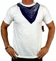 NEW LEVI'S MEN'S PREMIUM CLASSIC GRAPHIC COTTON T-SHIRT SHIRT TEE WHITE BANDANA image 3