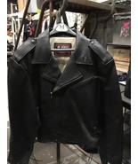 JUST LEATHER SAN JOSE BLACK LEATHER MOTORCYCLE JACKET NEW 5X - $89.10