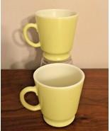 """Hazel Atlas Platonite Chartreuse Cups, Vintage 3"""" Mini Tea Coffee Mug, S... - $12.99"""