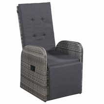 "vidaXL Outdoor Armchair Poly Rattan 41.3"" Gray Garden Wicker Patio Chairs - $141.99"
