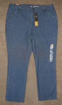 New Lee Pants Slim Straight Leg Eased Fit Tailored Chino Chambray Blue 1... - $18.69