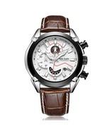 Megir Men's Leather Chronograph Wrist Watch 2065 (Brown) - $42.00