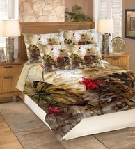 3D Red Lotus Pool 26 Bed Pillowcases Quilt Duvet Single Queen King US Lemon - $102.84+
