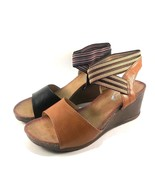 Italina DW6771 Black Slip On Wedge Criss Cross Sandals Size 9 - $29.40