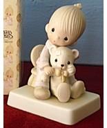 Bear Ye One Another's Burdens Boy w Teddy Bear Precious Moments Figurine... - $17.35