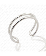 Women's Sterling Silver Double Wire Plain Band Adjustable Toe and Knuckl... - €4,22 EUR
