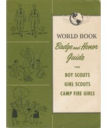 World Book Badge and Honor Guide for Boy Scouts Girl Scouts Camp Fire Gi... - $7.91