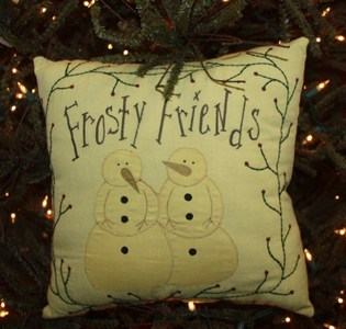 Primary image for Christmas Decor   kly7006 - Frosty Friends Pillow