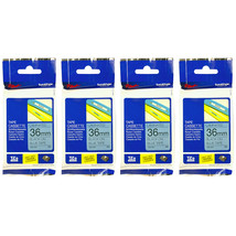 Brother Laminated 36mm Tape Cassette (4pcs), Black on Blue, TZe-561 - $132.99