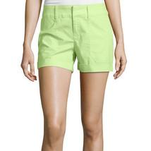 a.n.a Mid-Rise Utility Poplin Shorts 6, 16 New Sharp Green - $14.99