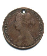 1861 New Brunswick One Cent Penny Coin Queen Victoria Canada Pendant - £1.97 GBP