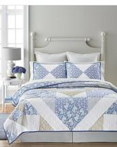 Martha Stewart Collection 100 % Cotton Standard Sham Blue Meadow Reversible - $17.67