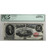 1880 $2 Legal Tender Fr#56 PCGS GEM NEW 66PPQ Rare Currency Bank Note - £2,097.25 GBP