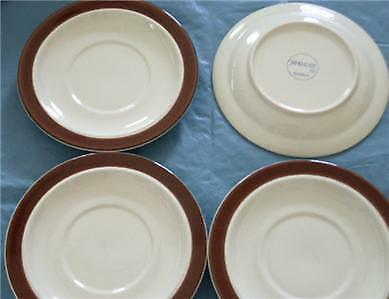 "Primary image for JEPCOR Chocolate Mousse Saucer Set of 4 China 6 1/2"" each"