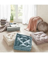 Chic Oversized Polyester Chenille Textured Square Floor Pillow Cushion -... - $56.99
