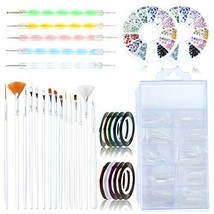 YG_Oline Nail Art Brush Set, 15pcs Nail Art Brushes, 5pcs 3D Nail Diamond Drill - $12.95