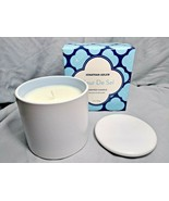 Jonathan Adler Fleur De Sel Scented Candle 11 Oz Ceramic Jar w/Lid FabFi... - $9.94