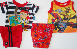 Infant Boys 2 Pc Pajama Sets Jake and the Pirates or Dragons 2 Various S... - $9.79