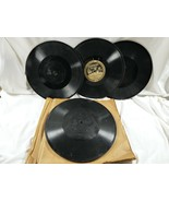 lot 4 Antique 1912-21 Edison Diamond Record Thick Disc Phonograph molde... - $85.14