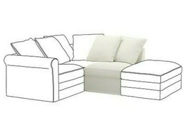 Ikea GRONLID One Seat Section Cover Slipcover Inseros White Sealed New - $56.82