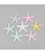 4 Large Resin Starfish Cabochons Assorted Lot 38mm Ocean Crafts Supplies Mix - $3.99