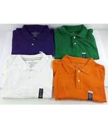 Faded Glory XL (46-48) Lot of 4 Men's Solid Color Pique Polo Shirts NWT - $26.72