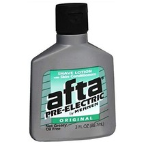 Afta Pre-Electric Shave Lotion With Skin Conditioners Original 3 oz Pack of 3