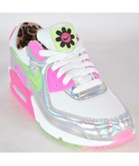 New Nike Women's Air Max 90 LX Holographic Leopard Daisy Sneakers Shoes 7 - $137.61