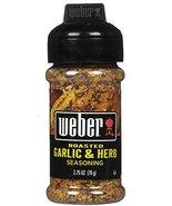 Weber Grill Seasoning, Roasted Garlic Herb, 2.75 oz - $11.83