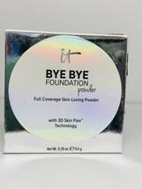 IT Cosmetics Bye Bye Foundation  Powder Full Coverage DEEP MOCHA 0.30oz Full Sz - $38.00