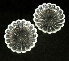"""Vintage Heisey Crystolite Clear Glass Nappy Lot of 2 Bowls 5 3/8"""" Very Good - $14.10"""