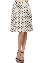Semi Sheer White Polka Dot Flare Skirt - Fully Lined- Vintage Inspired -... - $32.00