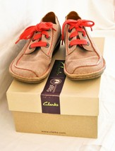 Clarks 'Funny Dream' Casual Shoes Lace-Up Light Brown Size 5UK - $49.43