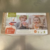 INFANTINO Fresh Squeezed 50-Pack  Squeeze Disposable Pouches 4 fl oz - $15.83