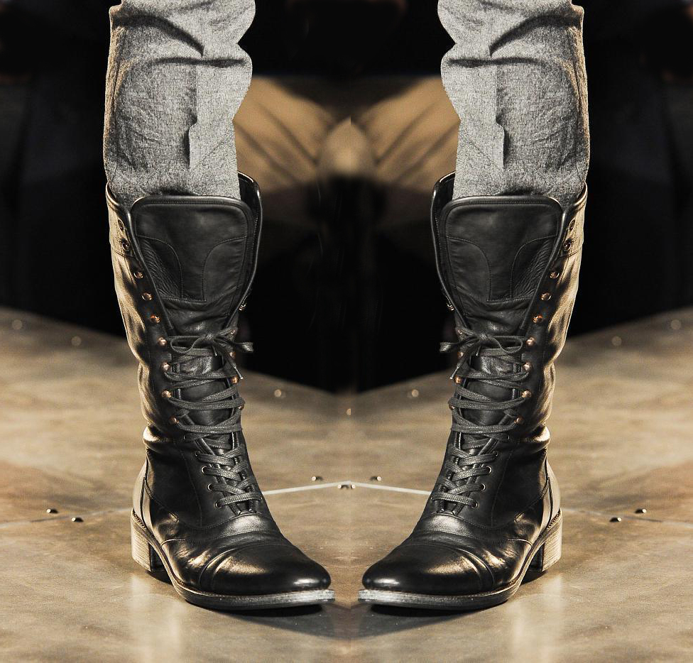 355c72d9837 Handmade mens military boots stylish superb leather boots long men leather  boots11