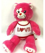 """Build A Bear Workshop Kisses for You Cat Heart Eye Plush 17"""" Pink & Whi... - $14.50"""