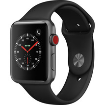 Apple Watch Series 3 42mm Space Gray Aluminum - Black Sport Band - GPS C... - $429.95