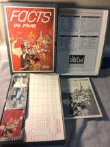Facts In Five Board GAME--3M--VINTAGE--BOOK SHELF--COMPLETE---FREE SHIP--VGC - $19.07