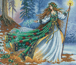 """Dimensions/Gold Collection Counted Cross Stitch Kit 14""""X12""""-Woodland Enchantress - $49.22"""